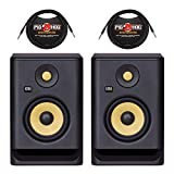 (2) KRK Rokit 5 G4 – 5″ Powered Studio Monitors + (2) 10 ft. TRS Cables