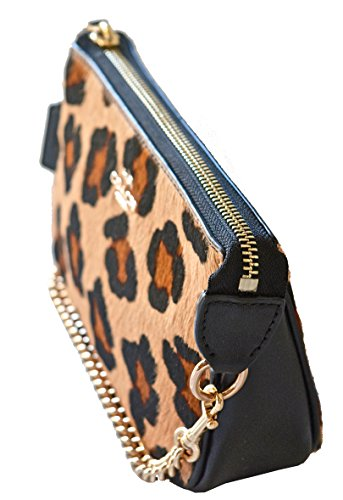 COACH-Large-Haircalf-Wristlet-19-in-Gold-Black-Neutral-64583