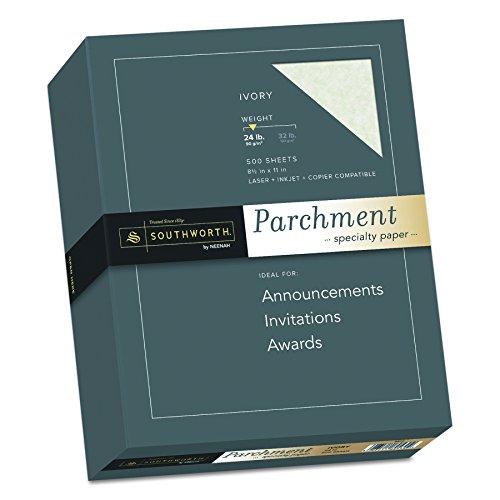 Southworth Fine Parchment Paper, 24 lb , Ivory, 500 sheets (984C) ()