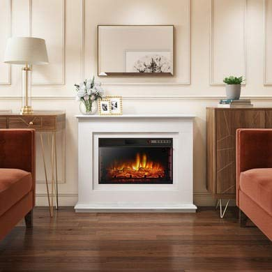 Amberglo Lassen Electric Fireplace Suite with Log Fuel Bed