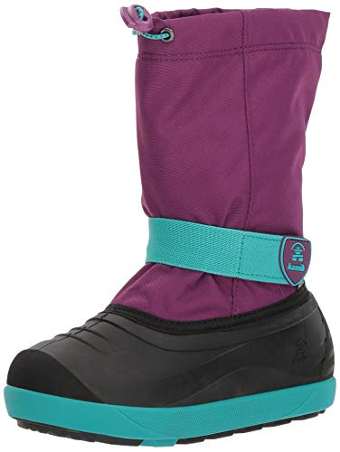 Pictures of Kamik Girls' JETWP Snow Boot, Purple/Teal, 9 Medium US Toddler 1