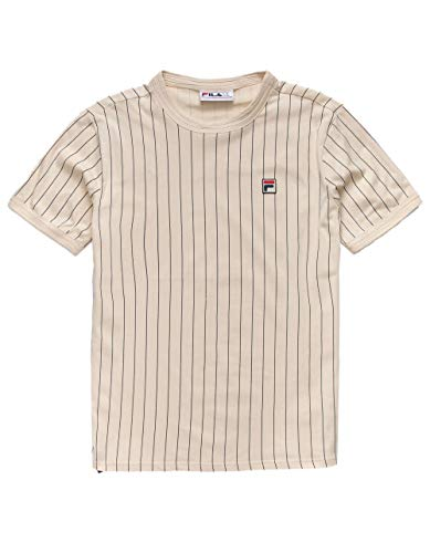 Fila Men's Guillo T-Shirt, Tapioca, Peacoat, XL