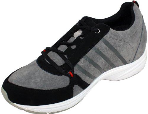 Toto-x6311-6,6cm Grande Taille-Hauteur Augmenter Ascenseur shoes-grey/Noir à Lacets Sneakers
