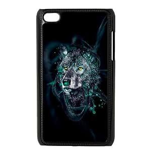 iPod Touch 4 Case Black Wolf Orwik