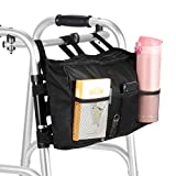 SupreGear Walker Bag, High Quality Folding Walker Bag Organizer Pouch Tote for Any Walker Style Rollator and Wheelchair, Machine Washable