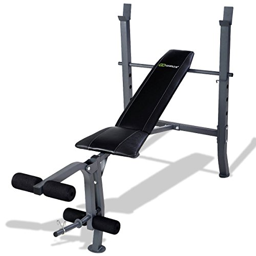 MD Group Bench Weight Sit Up Fitness Lifting Workout Flat Exercise Adjustable Gym Homeboard by MD Group