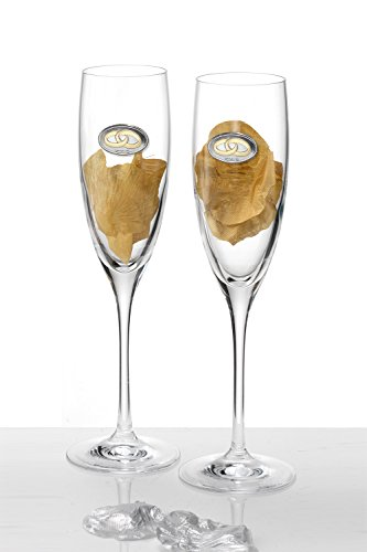 Acca, Set of Wedding Champagne Flutes, E - Sterling Silver Champagne Flutes Shopping Results