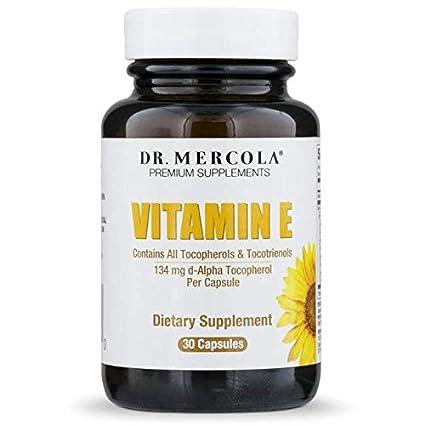 Dr Mercola Vitamin E 200 IU (Tocopherols & Tocotrienols, 30 Licaps Capsules)