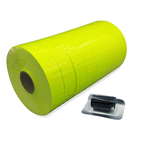 Amram 1 Line 20x11 White Pricing Marking Labels 1 Sleeve of 8 Rolls 20 000 Labels. Includes 1 Free Ink Roller Replacement. Labels Ink roller compatible w Monarch 1131.
