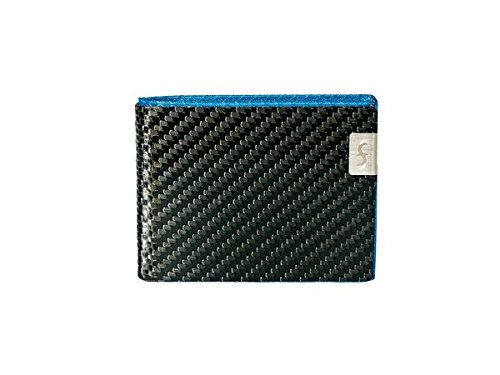 Mens RFID Fibers Common Blue Bifold Carbon with Wallet MAX Fiber Protection 5ZxOq8