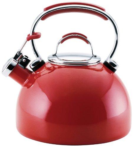 KitchenAid Teakettle 2-Quart Gourmet Essentials Porcelain Enamel Kettle , Red Kitchenaid Porcelain Enamel