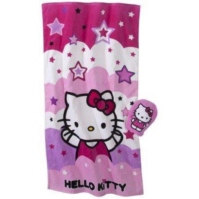 Hello Kitty 2 Piece Bath Set(Bath Towel and Wash Mitt)