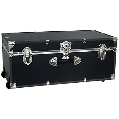 Seward Trunk 30-Inch Footlocker with Wheels, Black, One Size