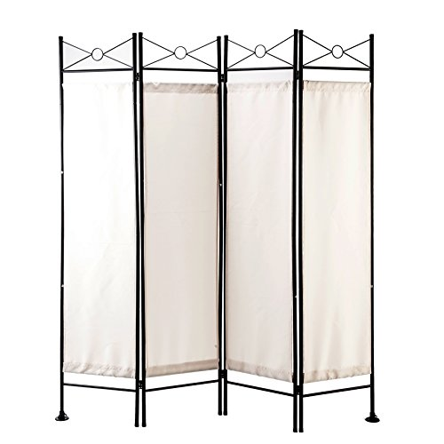 - GOJOOASIS 4 Panel Room Divider Folding Privacy Screen Home Office Dorm Decor (White)