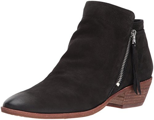 Sam Edelman Women's Packer Ankle Boot, Black Leather, 10 Wide US