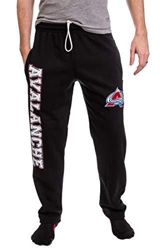 NHL Men's Premium Fleece Official Team Sweatpants (Colorado Avalanche, Large)