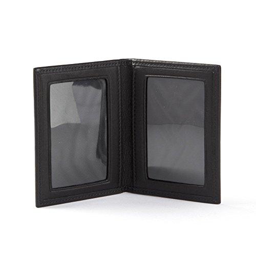 Leather Photo Grain - Travel Frame - Full Grain Leather - Black Onyx (black)