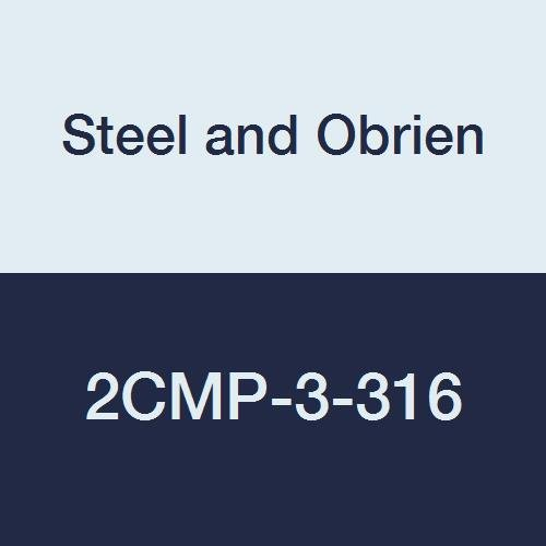 Steel and Obrien 2CMP-3-316 Stainless Steel Clamp, 90 degree Elbow, 3