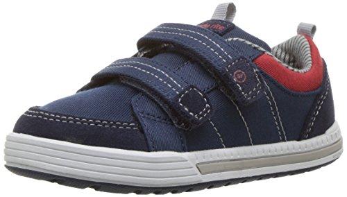 Stride Rite Kids' Logan Sneaker, Navy, 5.5 M US Toddler