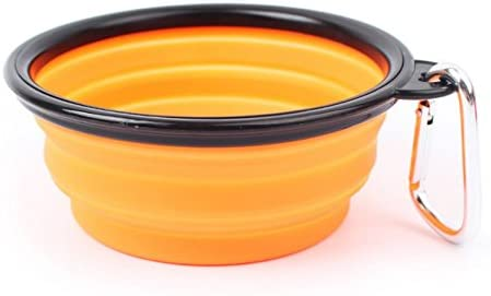 Purple Cats*1 pc Dogs M-G-X Folding Silicone Travel Feeder Portable pet bowl for Pets