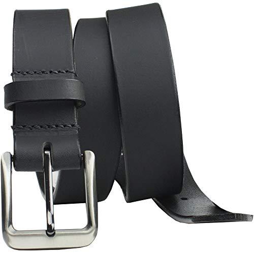 Smoky Mountain Black Belt II - Nickel Smart - Genuine Full Grain Leather Belt with Nickel Free Buckle - 44
