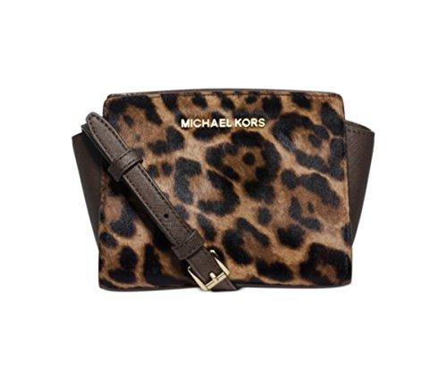 MICHAEL Michael Kors Selma Haircalf Mini Messenger - Bag Mk Leopard