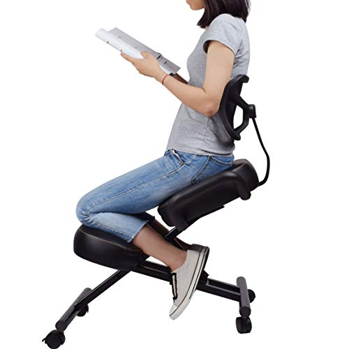 Ergonomic Kneeling Chair with Back Support