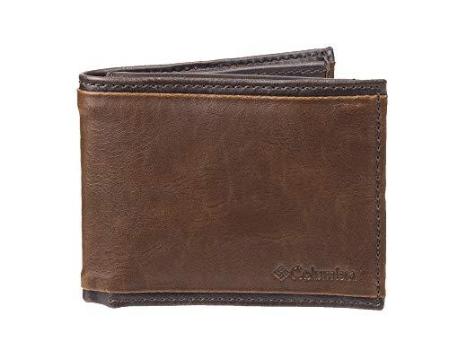 Columbia Men's RFID Blocking Passcase Wallet, Brown Deschutes, One Size