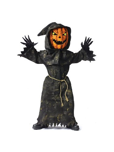 Bobble Head Pumpkin Child's Costume (Large) (Scary Woman Halloween Costume)