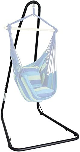 Sorbus Hammock Chair Stand for Hanging Chairs, Swings, Loungers, 330 Pound Capacity, Perfect for Indoor Outdoor Patio, Deck, Yard Adjustable Stand