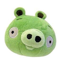 Angry Birds - Peluche con diseño de cerdo con sonido (10.16 cm), color verde