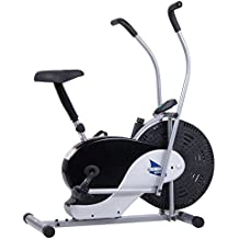 Body Rider Exercise Upright Fan Bike (with UPDATED Softer Seat) Stationary Fitness / Adjustable Seat