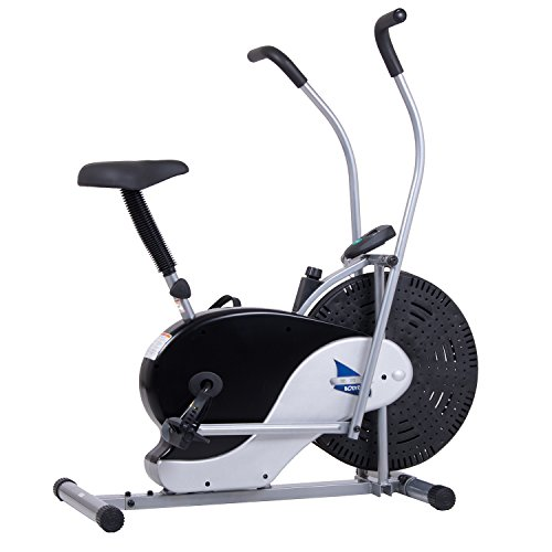 Upright Fan Bike (with UPDATED Softer Seat) Stationary Fitness/Adjustable Seat BRF700 ()