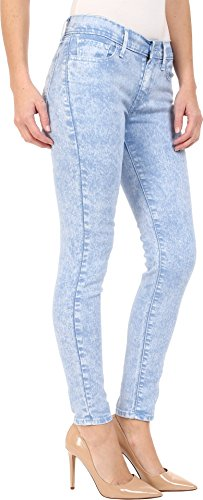 Hip 0081 Levi's rippled Mid Rise Thigh Super 710 Slim Donna Blue And Though Skinny fPPWcqBw1E