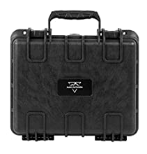 "Monoprice Weatherproof/Shockproof Hard Case - Black IP67 Level dust and Water Protection up to 1 Meter Depth with Customizable Foam, 13"" x 12"" x 6"""