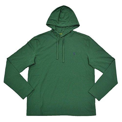 Polo Ralph Lauren Mens Jersey Knit Hoodie Tee (Medium, Green) by Polo Ralph Lauren