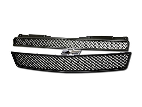 Velocity Racing Matte Black Finished Front Grille Luxury Mesh Style Hood Bumper Grill Abs for 2007-2014 Chevy Avalanche All Models | 2007-2014 Chevy Tahoe Models | 2007-2014 Chevy Suburban 1500/2500