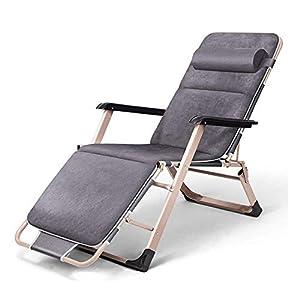 MXueei Sedia reclinabile pieghevole, lettino da giardino pieghevole reclinabile multiuso a gravità zero reclinabile for… 12 spesavip
