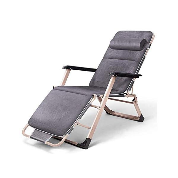 MXueei Sedia reclinabile pieghevole, lettino da giardino pieghevole reclinabile multiuso a gravità zero reclinabile for… 1 spesavip