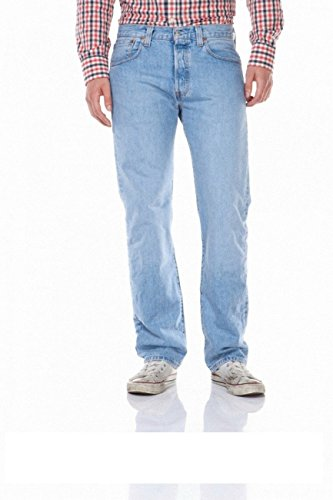 Levi's® 501® Jeans - Regular Straight Fit - Stonewash - Onewash - Marlon Wash - Black - Light Broken In, Größe:W 38 L 36;Wash:marlon wash (00501-0162)