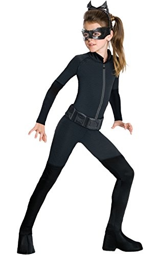 Halloween Costumes For 7 Year Old Girls (Batman Dark Knight Rises Child's Catwoman Costume - Medium)
