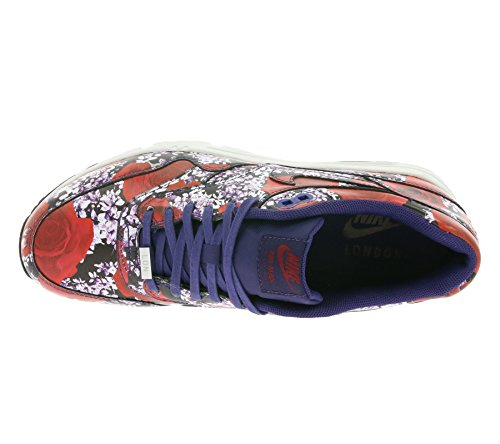 Nike Women's Wmns Air Max 1 Ultra LOTC QS, LONDON FLORAL-INK/INK-SUMMIT WHITE-TEAM RED, 9.5 US