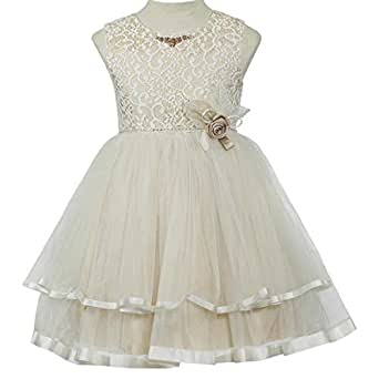 Pamina Gown For Girls - 5-6 Years, Beige