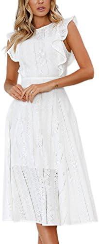 ECOWISH Dresses Elegant Ruffles Sleeves product image