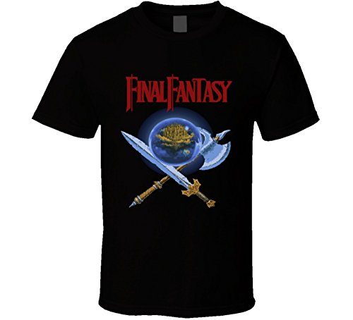 Fantasy T-shirts Art (Final Fantasy NES Box Art Retro Video Game T Shirt 2XL Black)