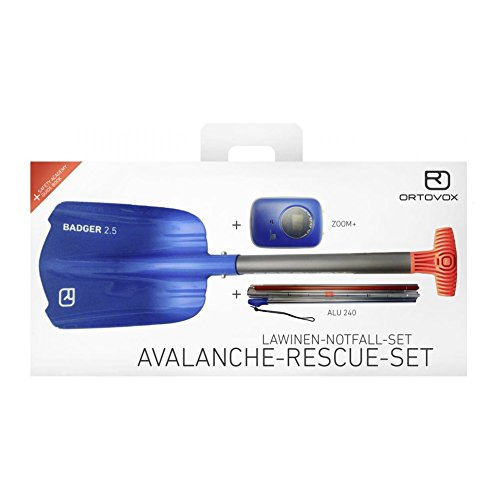 Ortovox None 2018 Zoom Plus Snowboarding Rescue Kit (Default , Blue) (Tracker Dts Avalanche Beacon)