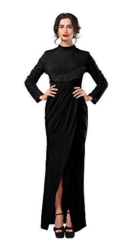 Red royal evening dress elegant evening gown - 6