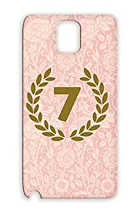 7 7th Seventh Seven Symbols Shapes Brown TPU Case For Sumsang Galaxy Note 3