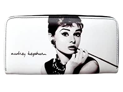 Audrey Hepburn Signature Money Credit Card ID Holder Wallet Coin Purse