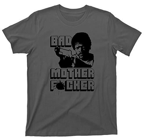 Jules Winnfield T Shirt Bad Mother Fcker Quentin Tarantino Pulp Fiction Movie Tee (Medium, Dark Gray)